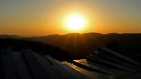 Solnedgång från Arthur Rubinstein Memorial Arkivbilder