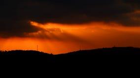 Solnedgång från Arthur Rubinstein Memorial Royaltyfri Foto