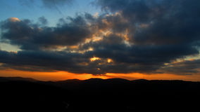 Solnedgång från Arthur Rubinstein Memorial Royaltyfri Bild