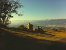 Solnedgång från Hollywoodet Hills royaltyfri bild