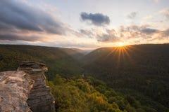 Solnedgång från Lindy Point i West Virginia fotografering för bildbyråer