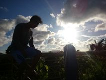 Solnedgång från sabang Arkivfoton
