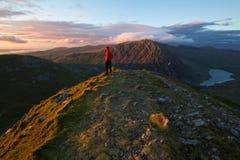Solnedgång från Y Garn Arkivfoton