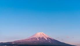 Solnedgång Fuji royaltyfri fotografi