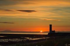Solnedgång Gardahrepp Arkivbilder