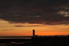 Solnedgång Gardahrepp Royaltyfri Fotografi