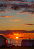 Solnedgång Gaspesie royaltyfria bilder