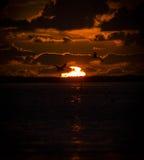 Solnedgång Gat skåpbil de Hök Arkivfoton