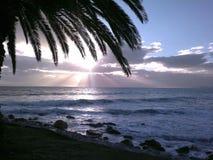 Solnedgång gb två Arkivfoto