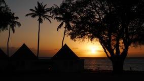 Solnedgång Guadeloupe Arkivbilder