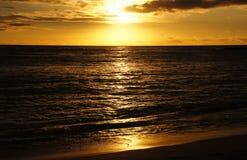 Solnedgång Hawaii, USA Arkivfoton
