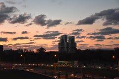 Solnedgång i Ä°stanbul arkivfoton