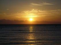 Solnedgång i agypt royaltyfria bilder