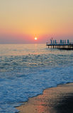 Solnedgång i Alanya Turkye Arkivfoton