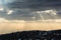 Solnedgång i amman Royaltyfria Foton