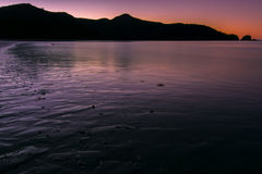 Solnedgång i Australien Royaltyfri Fotografi