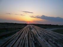 Solnedgång i avståndet Arkivfoton