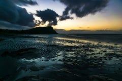 Solnedgång i ayrshiren Fotografering för Bildbyråer