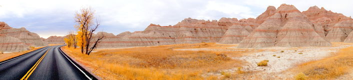 Badlands South Dakota, United States Arkivfoto
