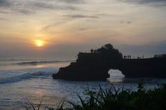 Solnedgång i Bali Arkivfoto
