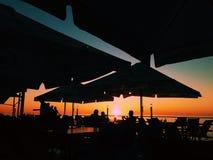 Solnedgång i Batumi Arkivbilder