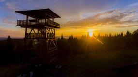Solnedgång i berg Royaltyfri Fotografi