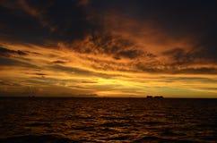 Solnedgång i Bermuda arkivfoton