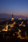Solnedgång i Bern Royaltyfri Fotografi
