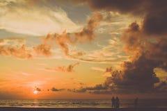 Solnedgång i Borneo Royaltyfri Fotografi