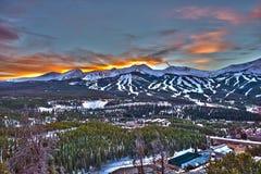 Solnedgång i Breckenridge HDR royaltyfri fotografi