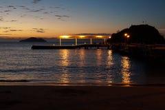 Solnedgång i Buzios Royaltyfria Bilder