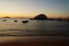Solnedgång i Buzios Royaltyfri Foto
