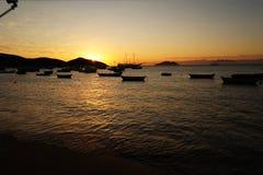 Solnedgång i Buzios Fotografering för Bildbyråer