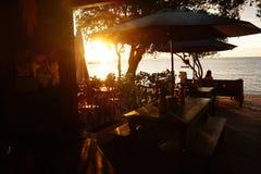Solnedgång i Buzios Royaltyfri Fotografi