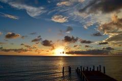 Solnedgång i Cabo Rojo Royaltyfria Bilder
