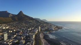 Solnedgång i Cape Town stock video
