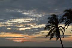 Solnedgång i Cartagena Arkivbild