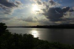 Solnedgång i Chiang Khan 1 Royaltyfri Bild