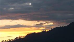 Solnedgång i Colombia arkivfilmer