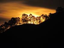 Solnedgång i Colombia royaltyfri fotografi