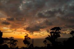 Solnedgång i Corcovado royaltyfria bilder