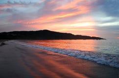Solnedgång i Costa Rica Fotografering för Bildbyråer