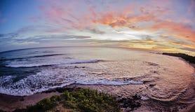 Solnedgång i Costa Rica Royaltyfria Foton