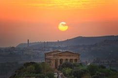 Solnedgång i dalen av konungar Arkivfoto