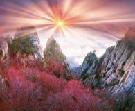 Solnedgång i dalen av spökar royaltyfri bild