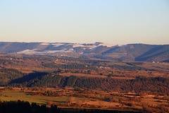 Solnedgång i den Gevaudan regionen, Frankrike Royaltyfria Bilder