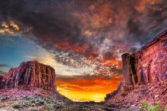 Solnedgång i den Utah öknen Royaltyfri Bild