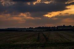 Solnedgång i Dorset Royaltyfria Foton