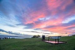 Solnedgång i Dundee lag fotografering för bildbyråer