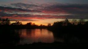solnedgång i Emmen royaltyfri fotografi
